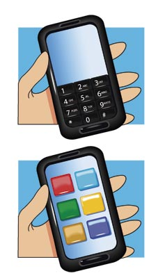 Celular com teclado qwerty ou touch screen