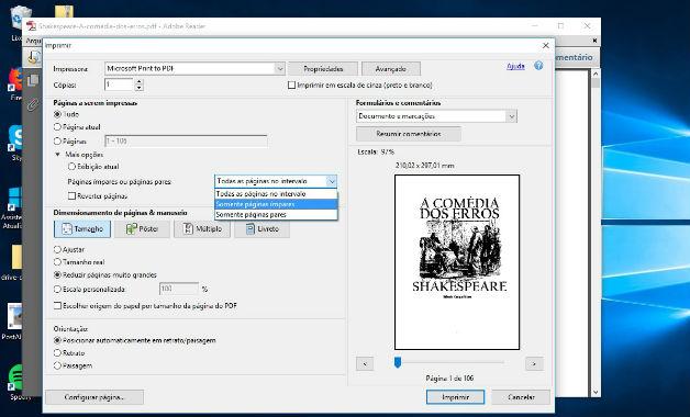 Aprenda como imprimir frente e verso em pdf