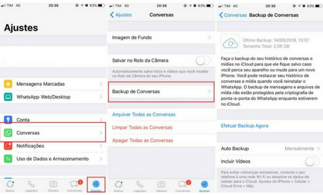 como recuperar conversas apagadas do whatsapp iphone 7