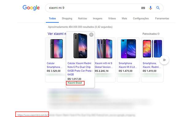 a1ebf0b15 Xiaomi BRZ aparece entre os links patrocinados do Google coomo Xiaomi Brasil