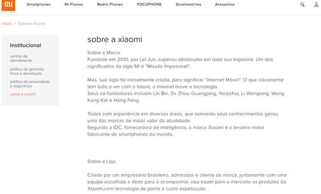 d77f40651 Xiaomi BRZ é confiável? Site idêntico ao da marca chinesa é alvo de ...
