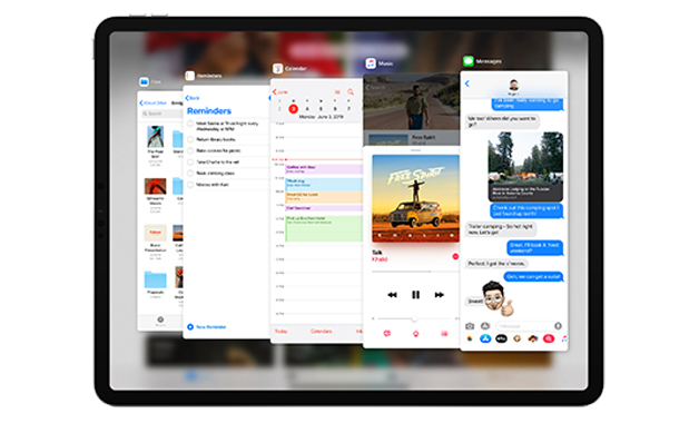 Slide Over do iPadOS
